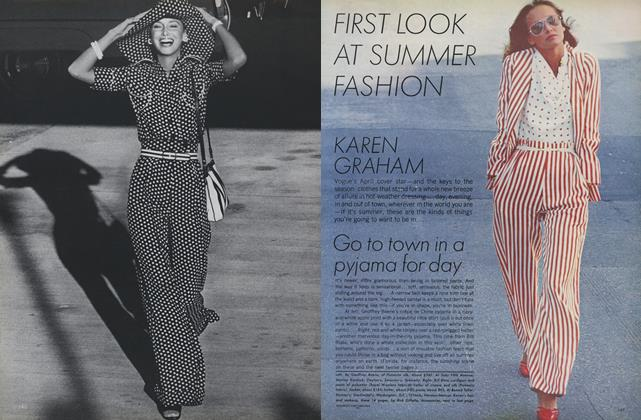 Article Preview: Karen Graham: First Look at Summer Fashion, April 1973 | Vogue
