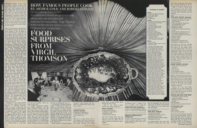 How Famous People Cook: Food Surprises from Virgil Thompson