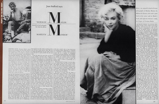 """Jean Stafford says: """"Norman Mailer should be bull-whipped for what he did to Marilyn Monroe"""""""