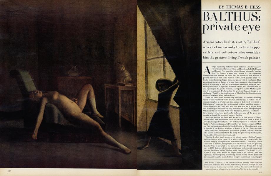 Balthus: Private Eye