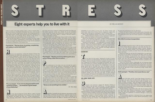 Article Preview: Stress: Eight Experts Help You To Live With It, March 1974 | Vogue