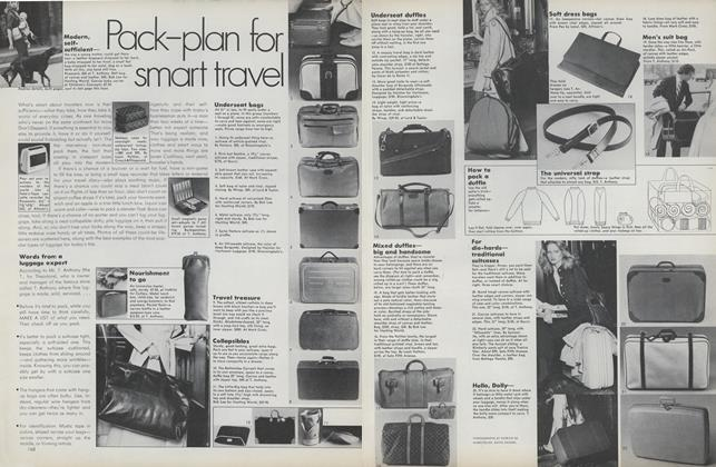 Article Preview: Pack-plan for Smart Travel, April 1974 | Vogue
