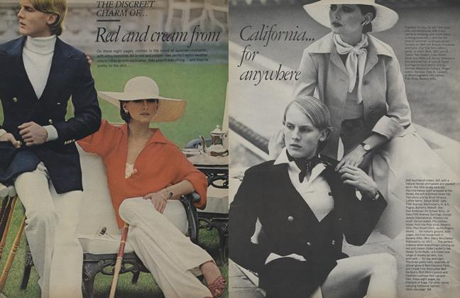Article Preview: The Discreet Charm of...Red and Cream from California for Anywhere, April 1974 | Vogue