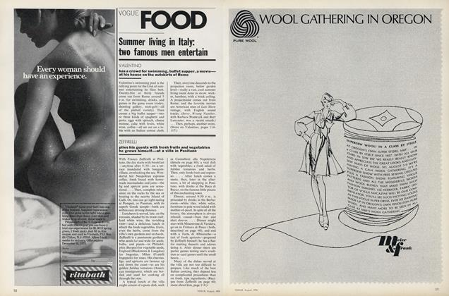 Summer Living In Italy: Two Famous Men Entertain—Valentino, Zeffirelli