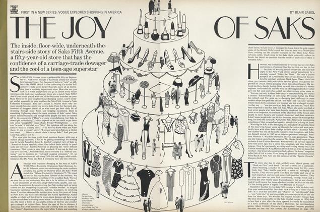 The Joy of Saks