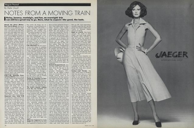 Article Preview: Notes from a Moving Train, April 1975 | Vogue