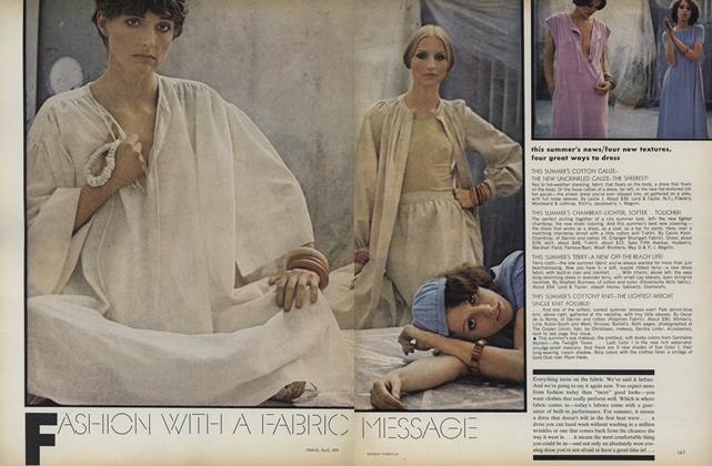 Article Preview: Fashion with a Fabric Message, April 1975 | Vogue