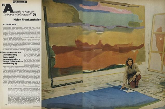 Top Bonanzas: Art: Helen Frankenthaler