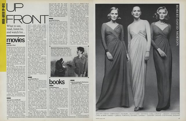 Article Preview: Upfront: Movies, Books, Art, August 1975 | Vogue