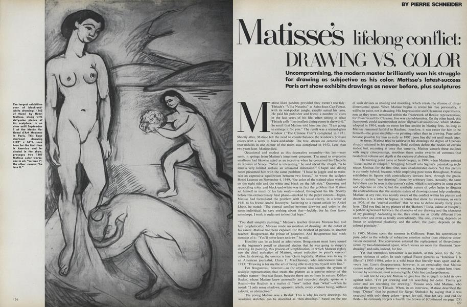 Matisse's Lifelong Conflict: Drawing vs. Color