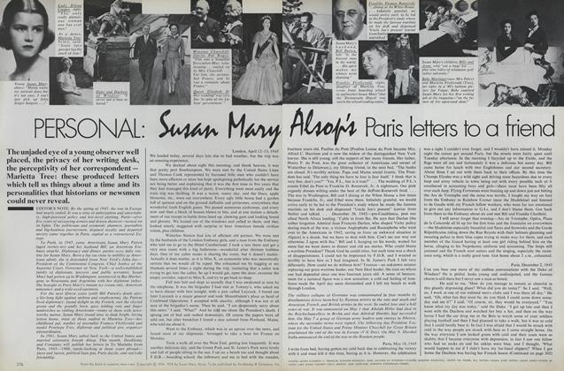 Personal: Susan Mary Alsop's Paris Letters to a Friend