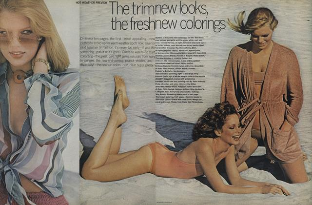 Article Preview: Hot-Weather Preview: The Trim New Looks, the Fresh New Colorings, November 1975 | Vogue