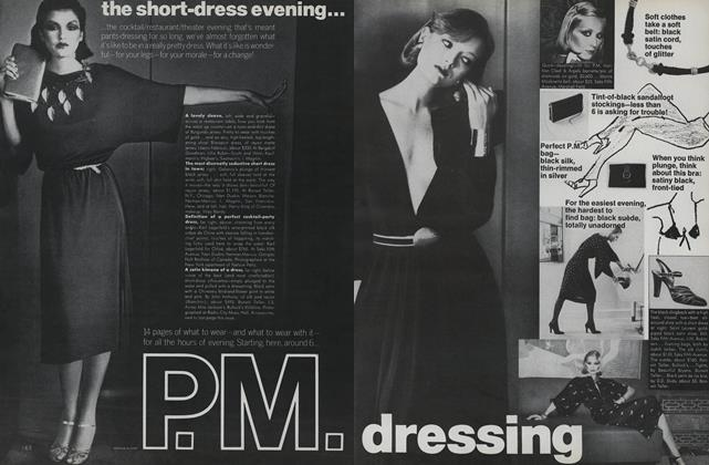 Article Preview: P.M. Dressing—What to Wear with What, November 1975 | Vogue