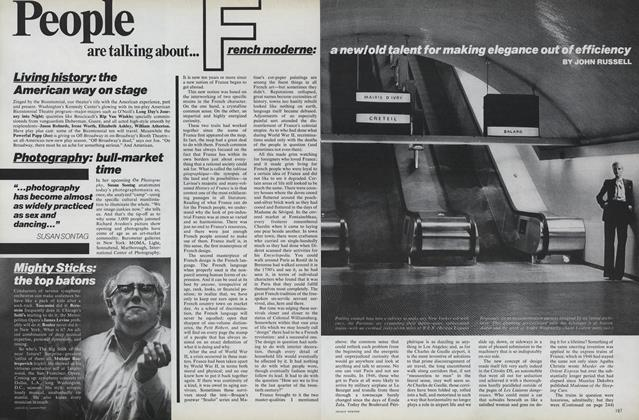 Article Preview: French Moderne: New/Old Talent for Making Elegance Out of Efficiency, November 1975 | Vogue