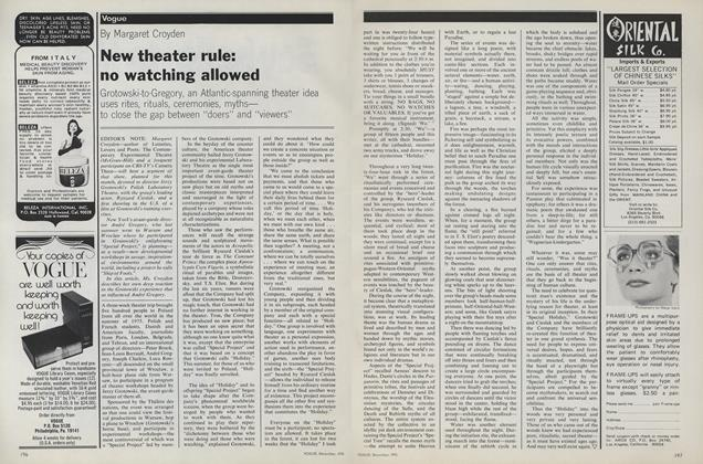 New Theater Rule: No Watching Allowed