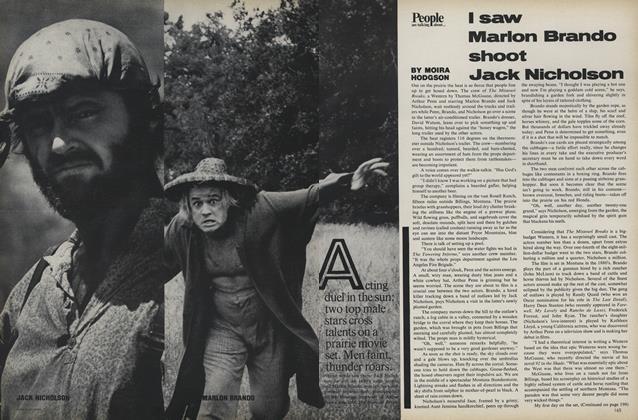 I saw Marlon Brando Shoot Jack Nicholson