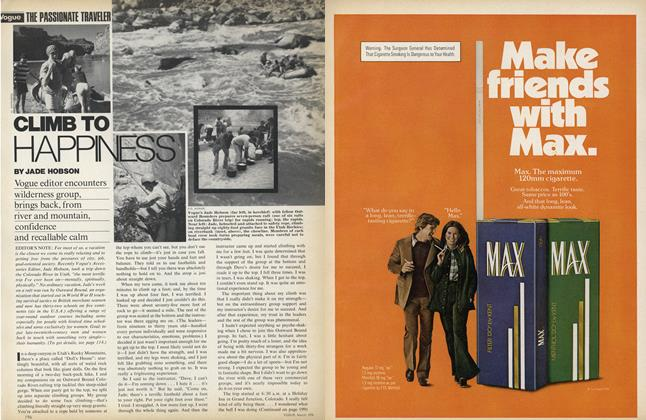 Article Preview: Climb to Happiness, March 1976 | Vogue