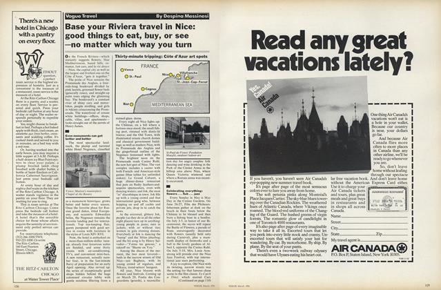 Article Preview: Base Your Riviera Travel in Nice, March 1976 | Vogue