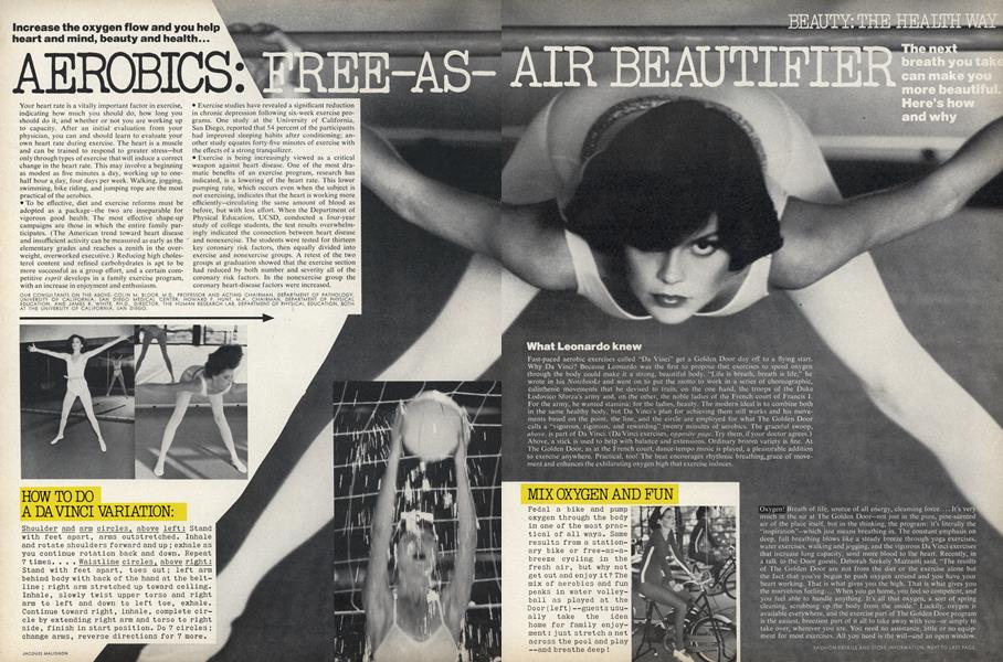 Beauty: The Health Way—Aerobics: Free-as-Air Beautifier
