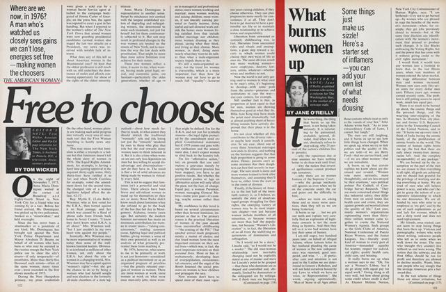 The American Woman: Free to Choose