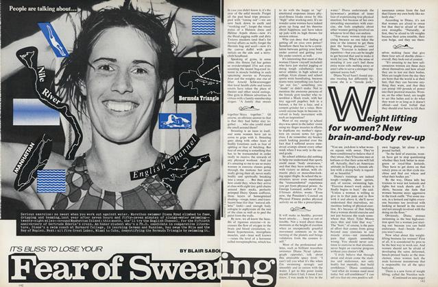 Article Preview: It's Bliss to Loose Your Fear of Sweating, August 1976 | Vogue