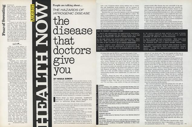 Article Preview: The Disease that Doctors Give You, August 1976 | Vogue