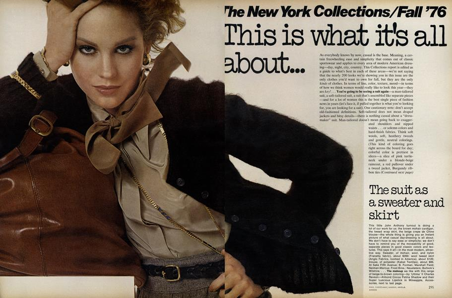 The New York Collections/Fall '76: This is What it's All About...