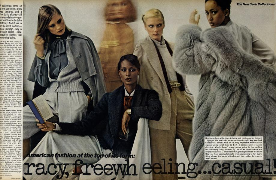 The New York Collections: American Fashion at the Top of its Form: Racy, Freewheeling...Casual!