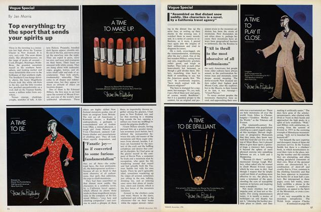 Article Preview: Top Everything: Try the Sport That Sends Your Spirits Up, December 1976 | Vogue