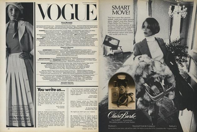 Article Preview: You Write Us..., January 1977 | Vogue