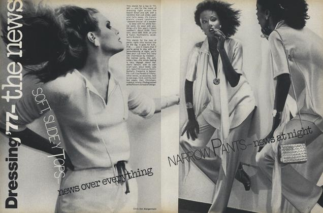 Article Preview: Dressing '77 - The News, January 1977 | Vogue