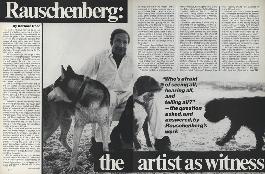 Rauschenberg: The Artist as Witness