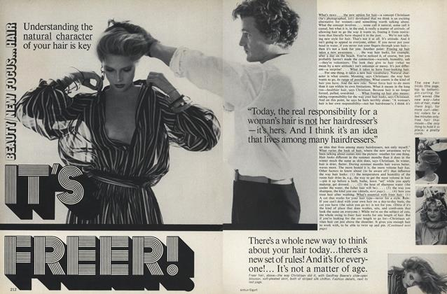 Article Preview: Beauty/New Focus...Hair: It's Freer!, March 1977 | Vogue