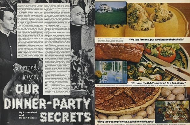 Article Preview: Gourmets to You: Our Dinner-Party Secrets, March 1977 | Vogue