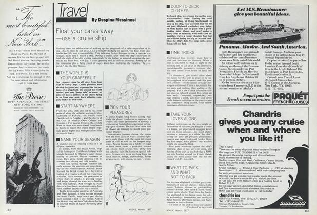 Article Preview: Float Your Cares Away - Use a Cruise Ship, March 1977 | Vogue
