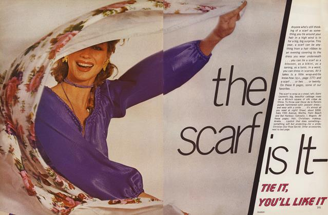 Article Preview: The Scarf Is It—Tie It, You'll Like It, March 1977 | Vogue
