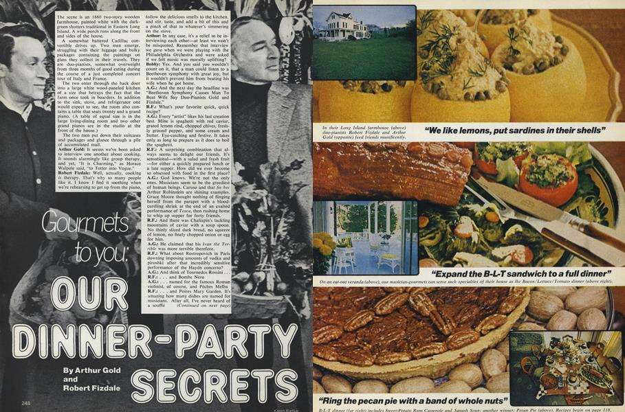 Gourmets to You: Our Dinner-Party Secrets