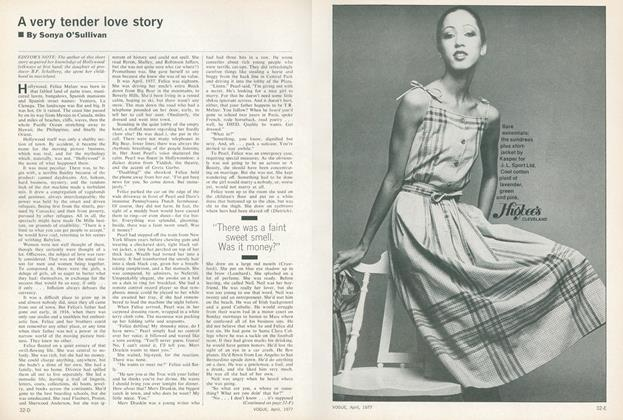Article Preview: A Very Tender Love Story, April 1977 | Vogue