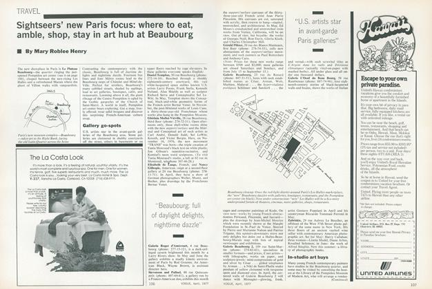 Article Preview: Sightseers' New Paris Focus: Where to Eat, Amble, Shop, Stay in Art Hub at Beaubourg, April 1977 | Vogue
