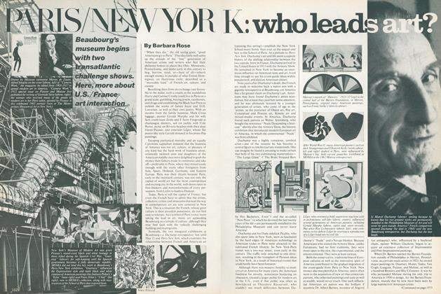 Article Preview: Paris/New York: Who Leads Art?, April 1977 | Vogue