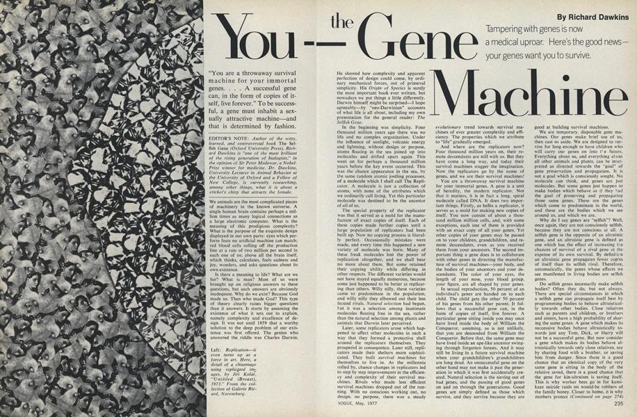 You—The Gene Machine
