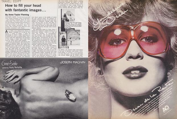 Article Preview: Egypt: How to Fill Your Head with Fantastic Images, July 1977 | Vogue