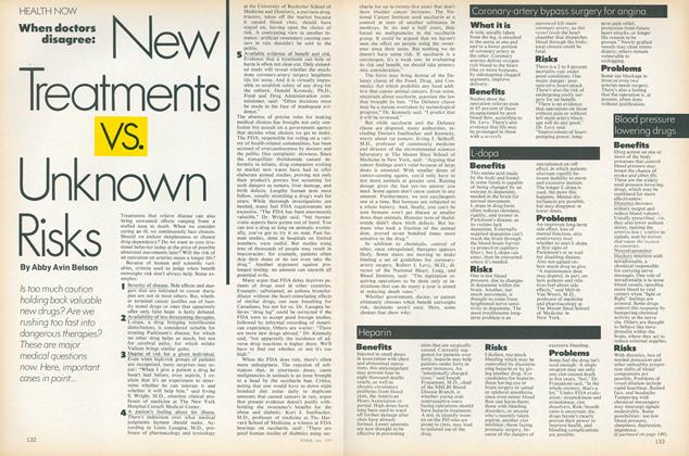 Article Preview: When Doctors Disagree: New Treatments Vs. Unknown Risks, July 1977 | Vogue