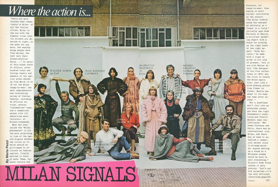 Milan Signals: Where the Action Is