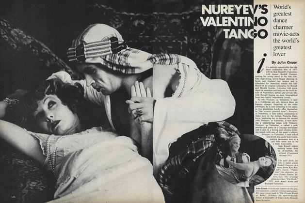Article Preview: Nureyev's Valentino Tango, August 1977 | Vogue