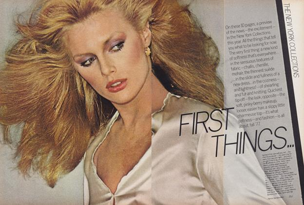 Article Preview: The New York Collections: First Things..., September 1977 | Vogue