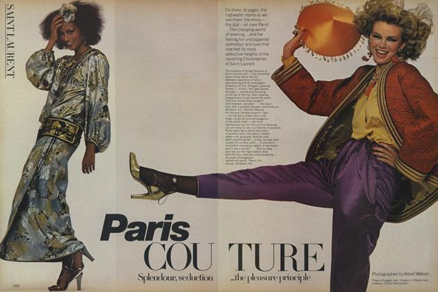 Article Preview: Paris Couture: Splendour, Seduction...The Pleasure Principle, October 1977 | Vogue