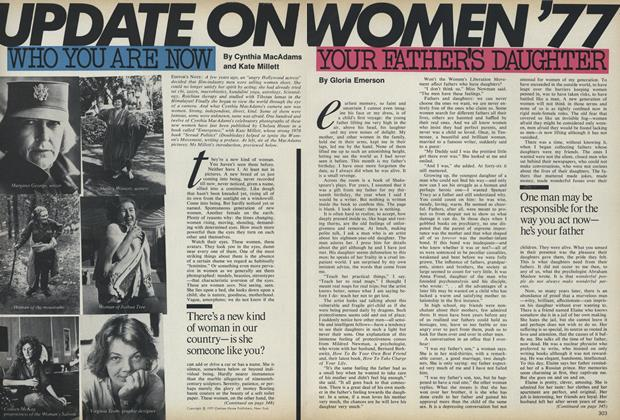 Article Preview: Update on Women '77: Your Father's Daughter, October 1977 | Vogue