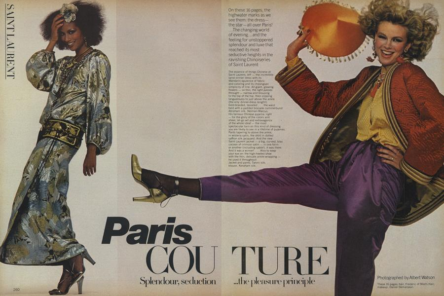 Paris Couture: Splendour, Seduction...The Pleasure Principle