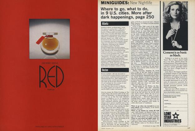 Article Preview: Miniguides: New Nightlife, November 1977 | Vogue